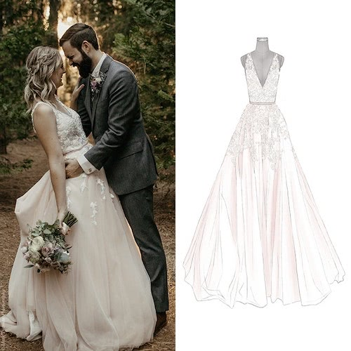 a08fa22bdae Anomalie custom online wedding dress sketch